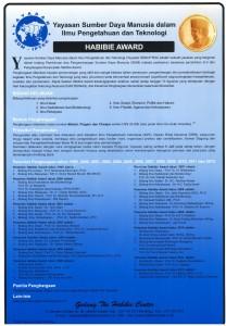 Poster Yayasan SDM-IPTEK Habibie Award