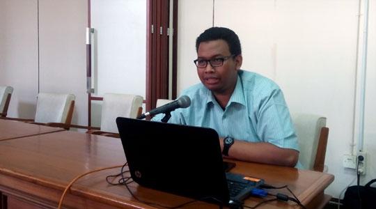 Penjelasan oleh Kepala Subdirektorat Integrasi dan Tata Kelola Sistem Informasi