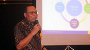 Pemaparan materi oleh Wakil Rektor Bidang Sumber Daya Manusia