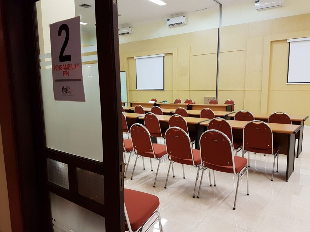 Tempat pengambilan PIN di Learning and Development Center (LDC) UGM